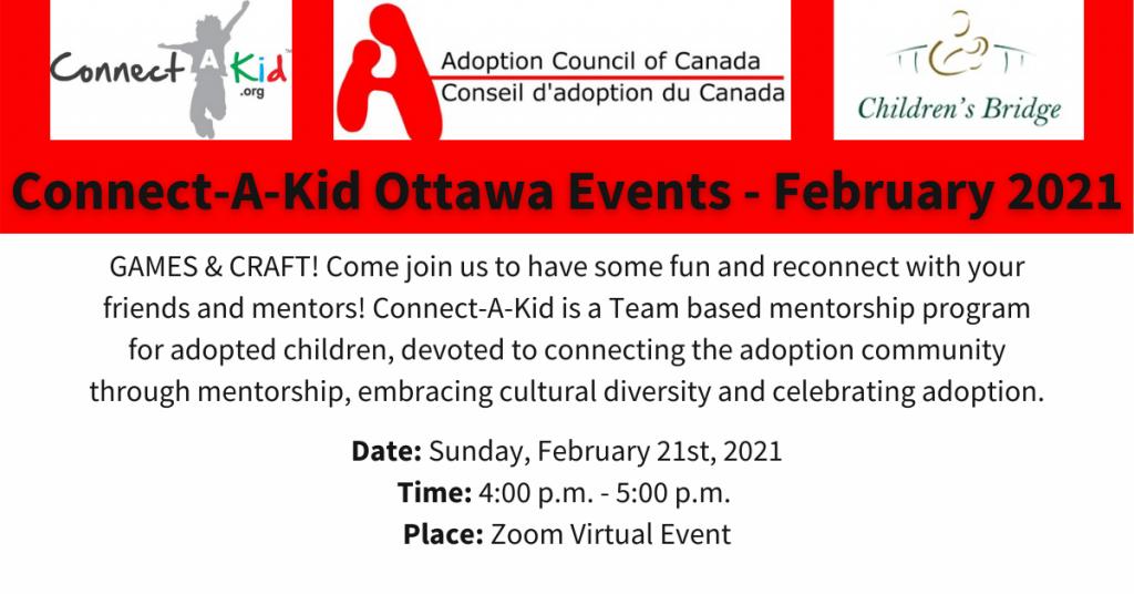 Connect-A-Kid Ottawa Feb Events